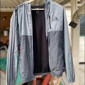 Adidas Grey windbreaker